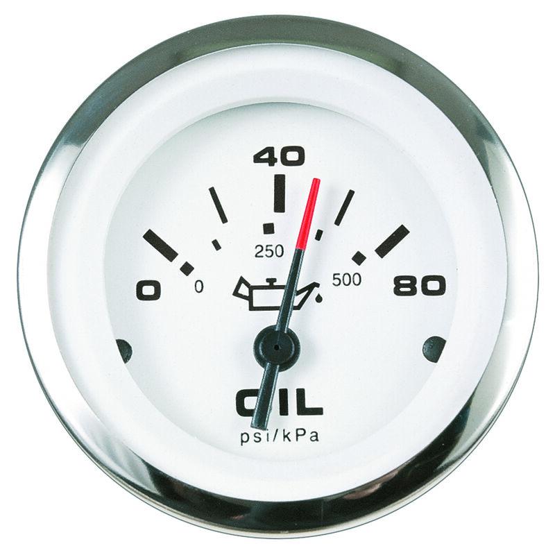 """Sierra Lido 2"""" Oil Pressure Gauge, 0-80 PSI image number 1"""