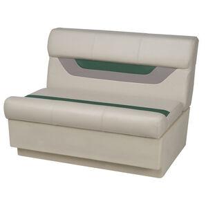 "Toonmate Designer Pontoon 36"" Wide Bench Seat - TOP ONLY - Platinum/Evergreen/Mocha"