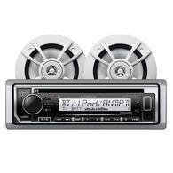 "Kenwood KMR-D372BT Bluetooth CD Receiver Package w/4 6.5"" Two-Way Speakers"