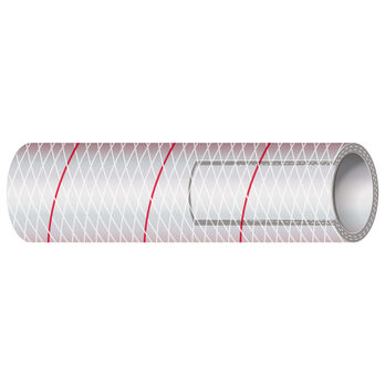 "Shields 3/4"" Polyester-Reinforced Red-Tracer Tubing, 50'L"