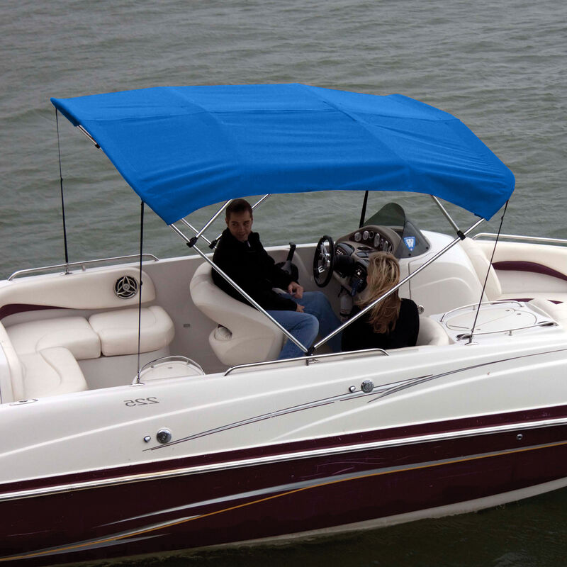 """Shademate Bimini Top Polyester Fabric and Boot Only, 4-Bow 8'L, 42""""H, 79""""-84""""W image number 4"""