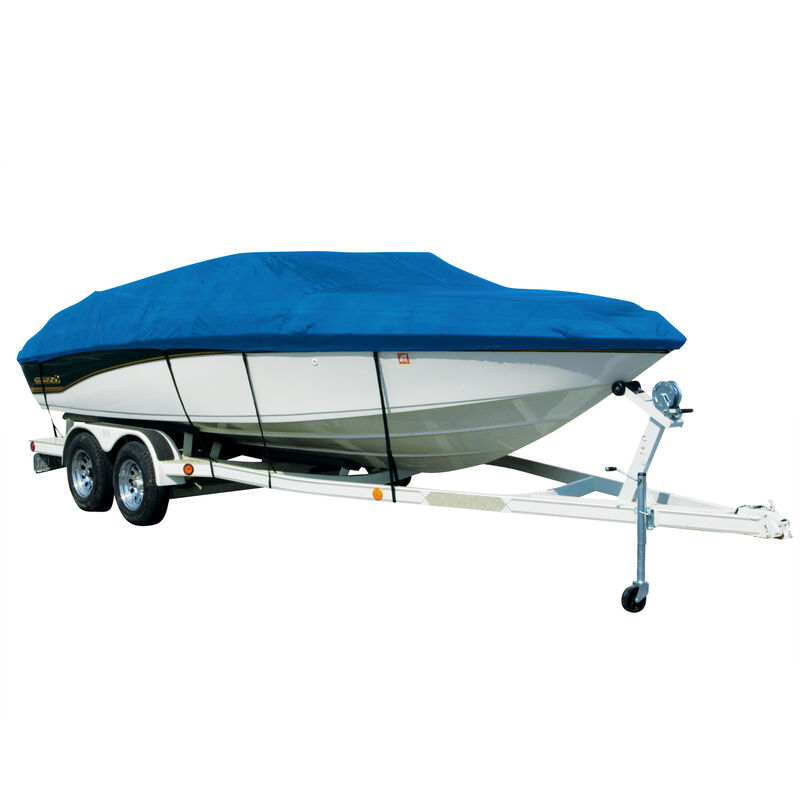 Covermate Sharkskin Plus Exact-Fit Cover for Monterey 224 Fs 224 Fs W/Factory Bimini Cutouts Covers Extended Swim Platform image number 2