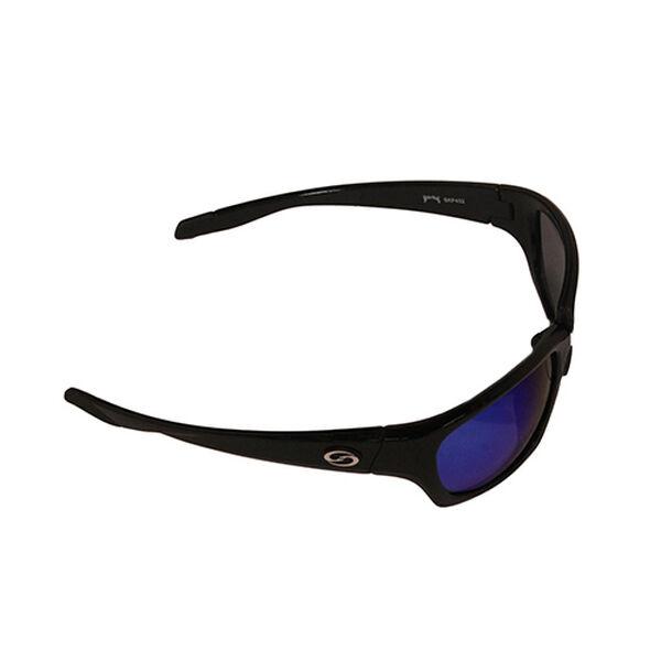 Strike King SK Plus Cypress Sunglasses - Shiny Black Frame, Blue Mirror Lens