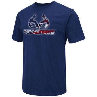 Realtree Men's Flag-Fill Logo Short-Sleeve Tee