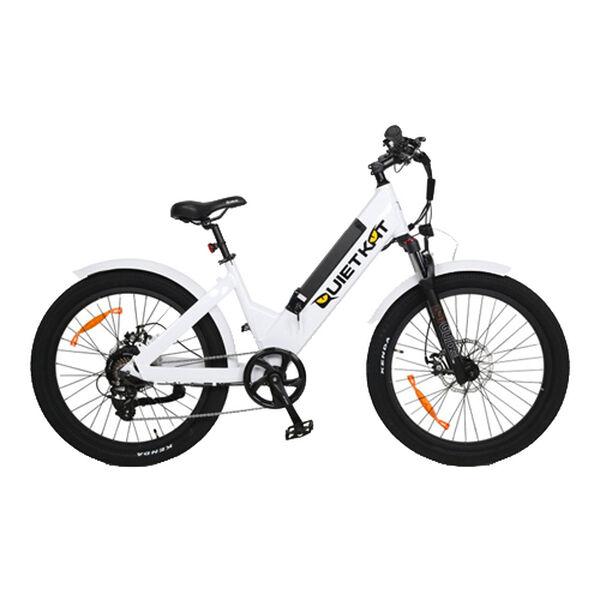 """QuietKat Villager 500-Watt Electric Bike 16"""", White"""