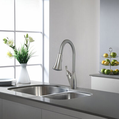 Empire RV Metal Pull-Down Kitchen Faucet with Trumpet-Style Spray Head