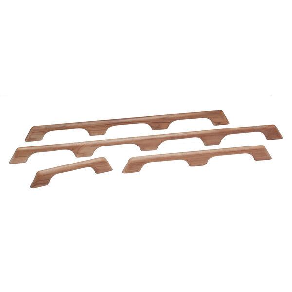 """SeaForce Teak Four-Loop Handrail, 43""""L x 2-3/8""""H x 1""""D"""