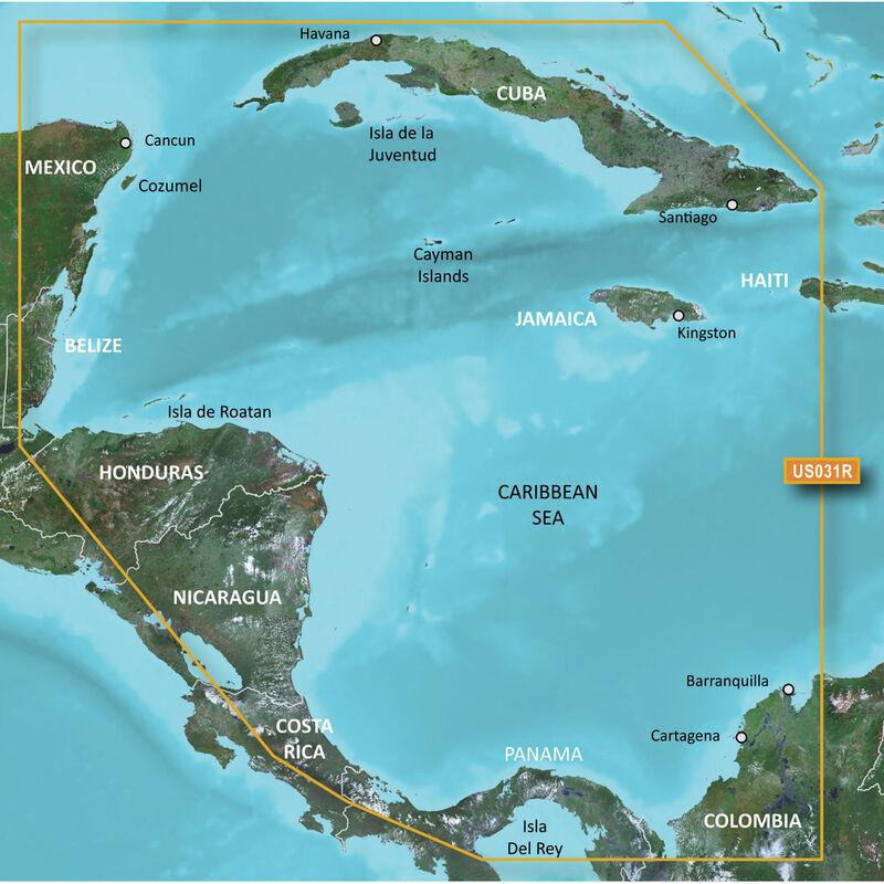 Garmin BlueChart g2 Vision HD Cartography, Southwest Caribbean image number 1
