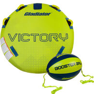 Gladiator Victory 1-Person Towable Tube with Booster Ball