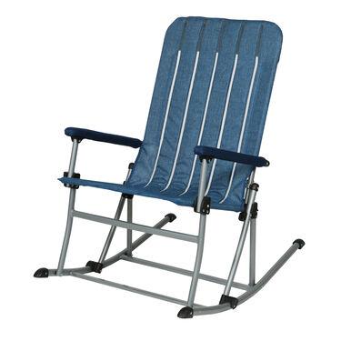 Venture Forward Rocking Chair with Mattress, Blue/Gray