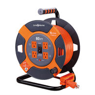 Link2Home Power Reel 80' Extension Cord with 4 Power Outlets