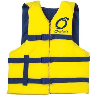 Overton's Adult Nylon Life Jacket, Yellow