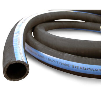 "Shields ShieldsFlex II 1-1/8"" Water/Exhaust Hose With Wire, 25'L"