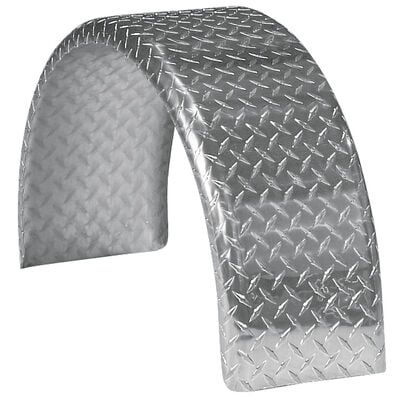 "Smith Round Trailer Aluminum Tread Plate Fender for 14"" Tire"