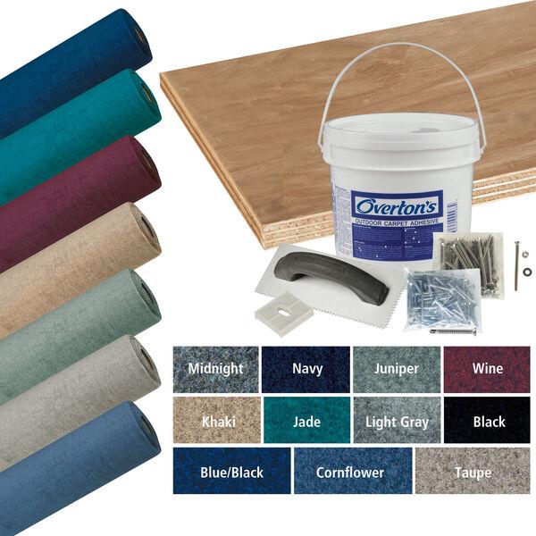 Overton's Malibu Carpet and Deck Kit, 8.5'W x 16'L