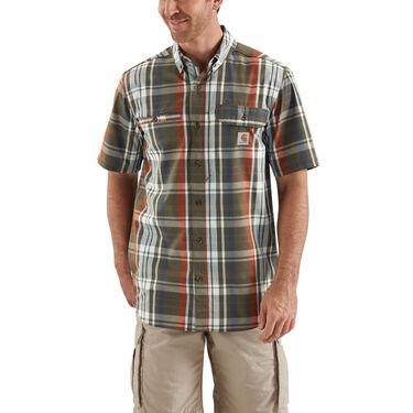 Carhartt Men's Force Ridgefield Short-Sleeve Plaid Shirt