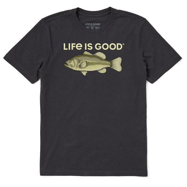 Life Is Good Men's Bass Rendering Crusher Short Sleeve Tee