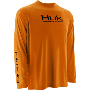 Huk Men's Performance Raglan Solid Long-Sleeve Tee