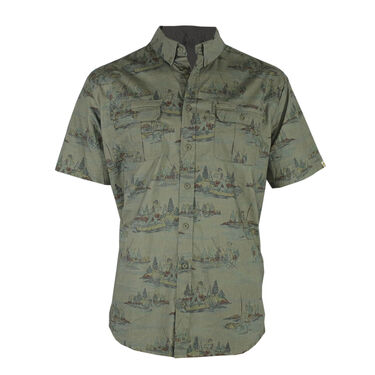 Reel Obsession Men's Lakeshore Short-Sleeve Woven Shirt