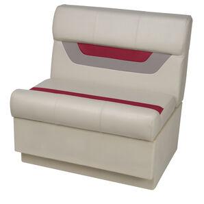 "Toonmate Designer Pontoon 27"" Wide Bench Seat - TOP ONLY - Platinum/Dark Red/Mocha"