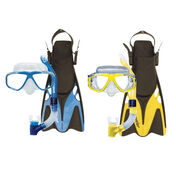 Oceanways Traveler Fin and Caribbean Mask/Snorkel Combo