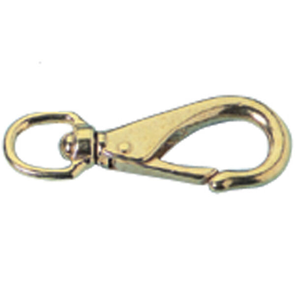 "Polished Brass Swivel Snap, 4-1/2""L"