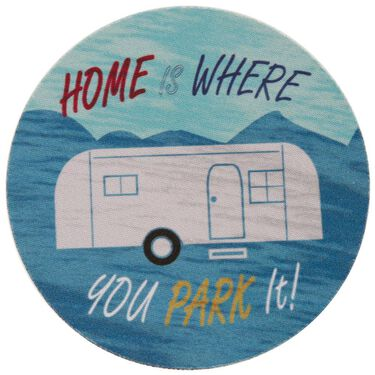 Retro Coasters, Set of 6, Home Is Where You Park It