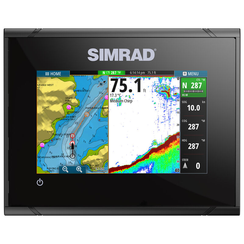Simrad GO5 XSE Fishfinder Chartplotter With TotalScan Transducer And Insight USA image number 4