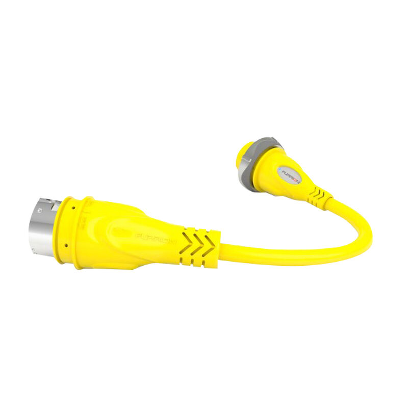 Furrion Pigtail Adapter 30A Female to 50A 125V Male image number 1