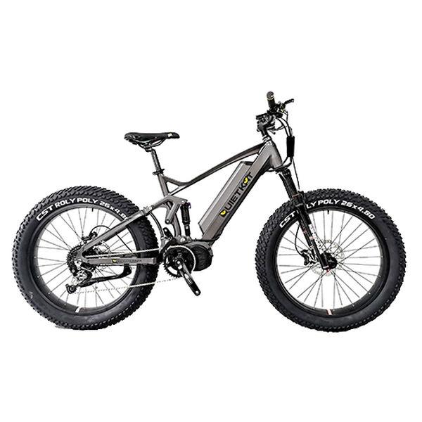 "QuietKat Ridgerunner 1000-Watt Full-Suspension Electric Mountain Bike 17"", Charcoal"