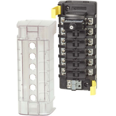 Blue Sea Systems ST CLB Circuit Breaker Block, 6 Position Independent Source