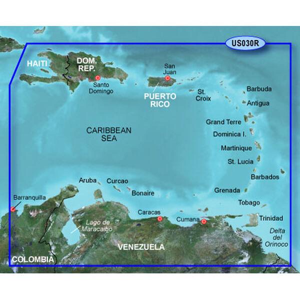 Garmin BlueChart g2 Vision - Southeast Caribbean