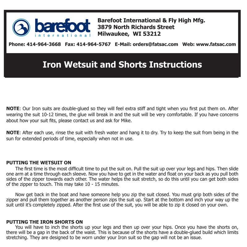 Barefoot International Iron Short-Sleeve Barefoot Wetsuit image number 4