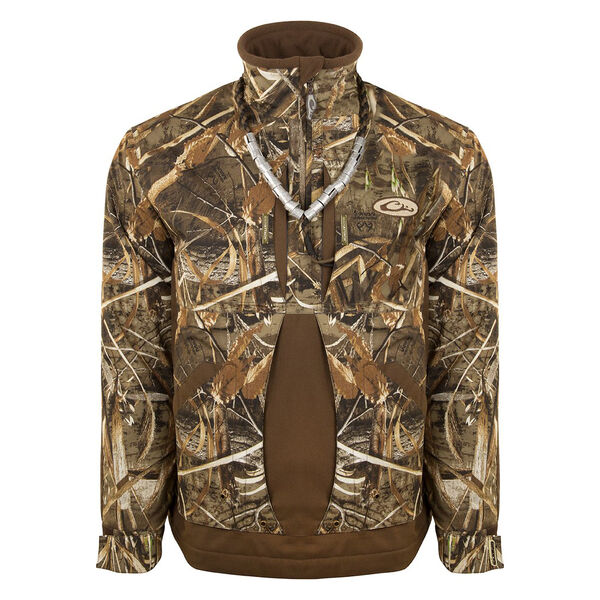 Drake Waterfowl Men's Guardian Flex Fleece-Lined Quarter-Zip Jacket