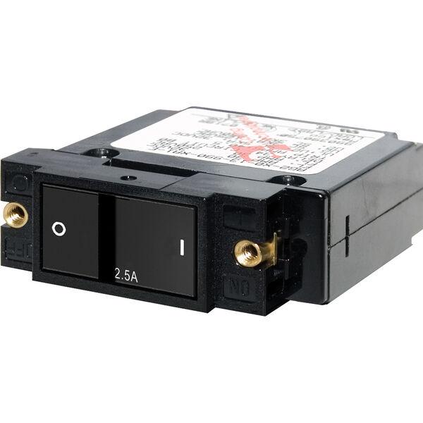 Blue Sea Systems A-Series Flat Rocker Switch Circuit Breaker, Single Pole 2.5A