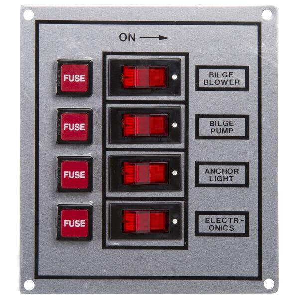 Whitecap 4-Gang Rocker Switch Panel