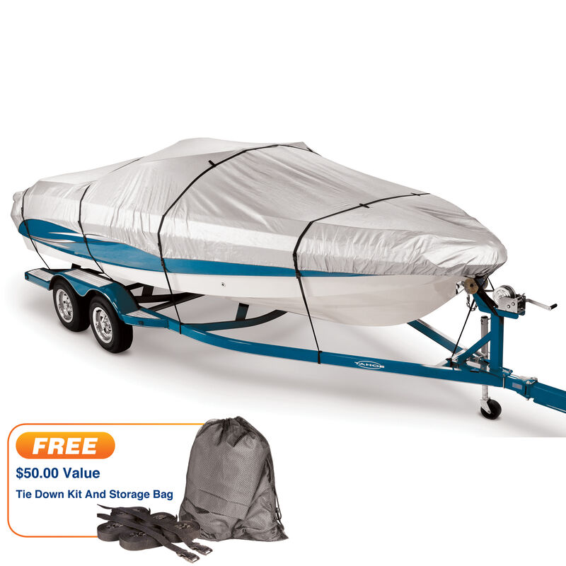 """Covermate 300 Trailerable Cover for 16'-18'6"""" Fish and Ski, Pro Bass Boat image number 1"""