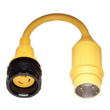 Marinco Pigtail Adapter, 30A 125V / 50A 125/250V