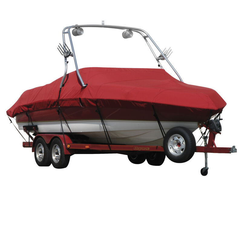 Exact Fit Covermate Sharkskin Boat Cover For SEA RAY 200 SUNDECK w/XTREME TOWER image number 10
