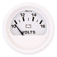 "Faria 2"" Dress White Series Voltmeter, 10-16V DC"