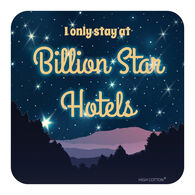 Billion Star Hotel Drink Coaster, each
