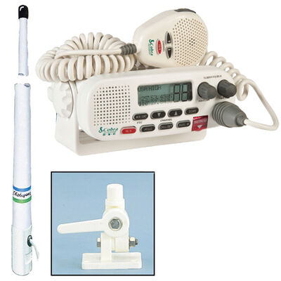Cobra MR F45-D Class D VHF Radio Package With 8' Antenna And Mount
