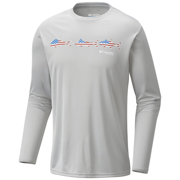 Columbia Men's Terminal Tackle Freedom Fish Long-Sleeve Tee