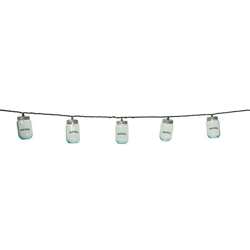 """10 Mini Mason Jar Lights, 7'8"""" image number 3"""