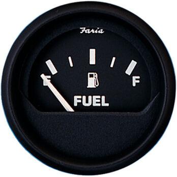 """Faria 2"""" Euro Black Series Fuel Level Gauge"""