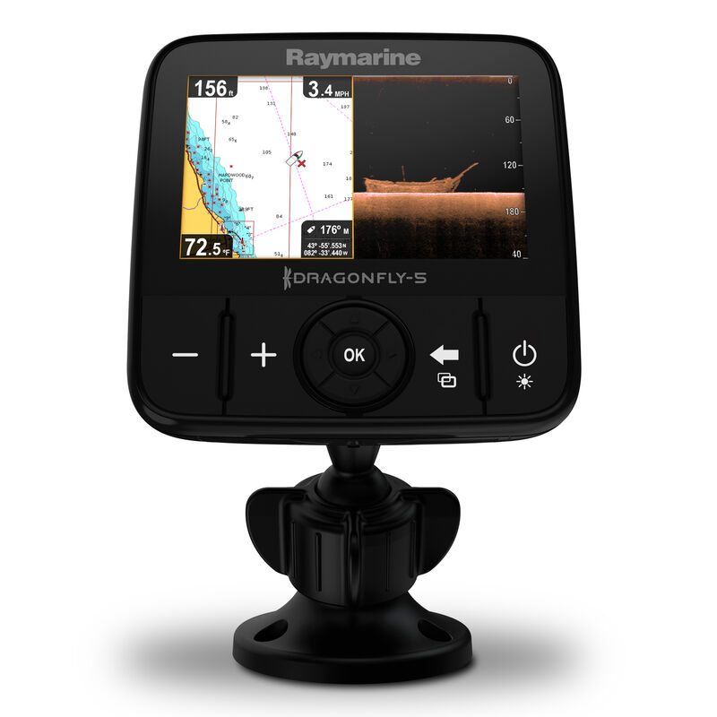 Raymarine Dragonfly 5 DVS With Dual-Channel CHIRP DownVision Sonar image number 8