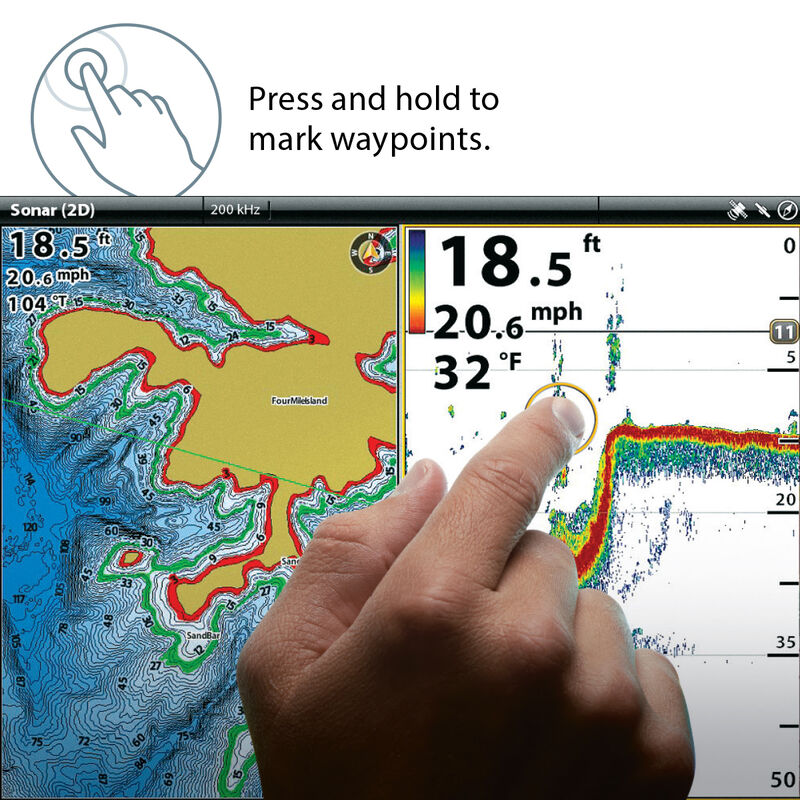 Humminbird ONIX8ci SI Chartplotter/Fishfinder Combo With Side Imaging image number 4