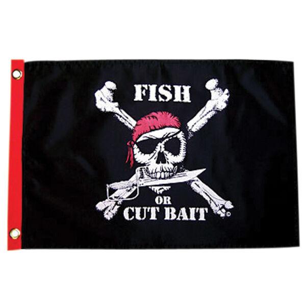 Pirate Heads Fish Or Cut Bait Boat Flag
