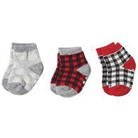 Mud Pie Infant Newborn Buffalo Check Printed Sock Set