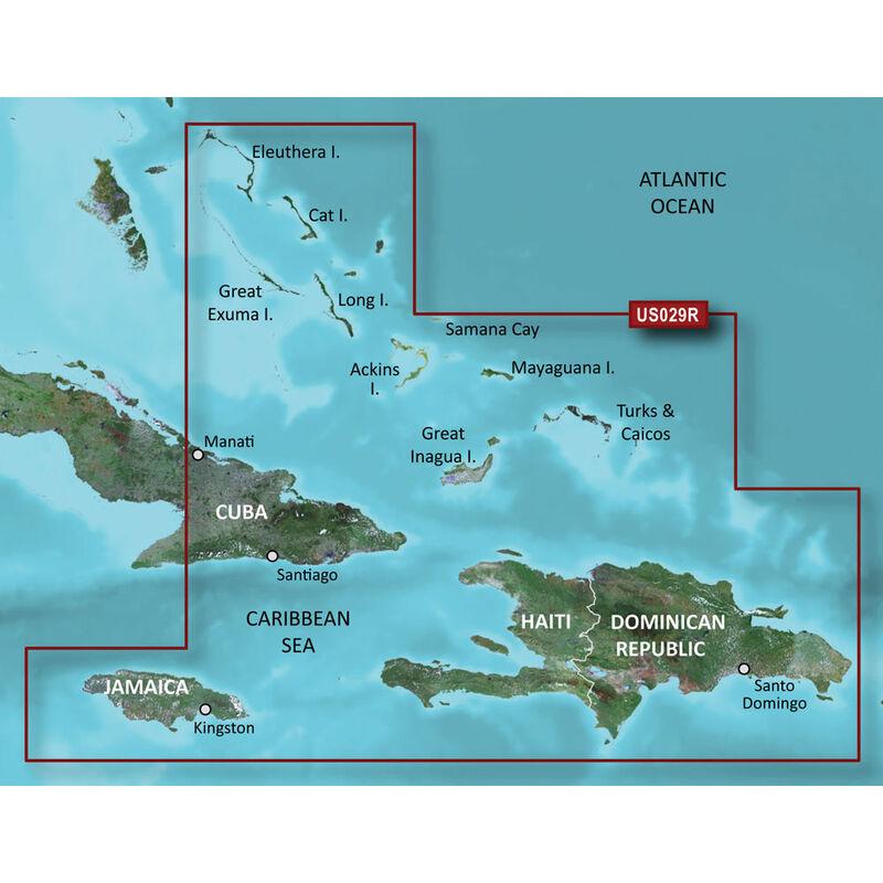 Garmin BlueChart g2 HD Cartography, Southern Bahamas image number 1
